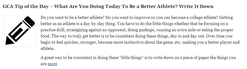 Be a Better Athlete